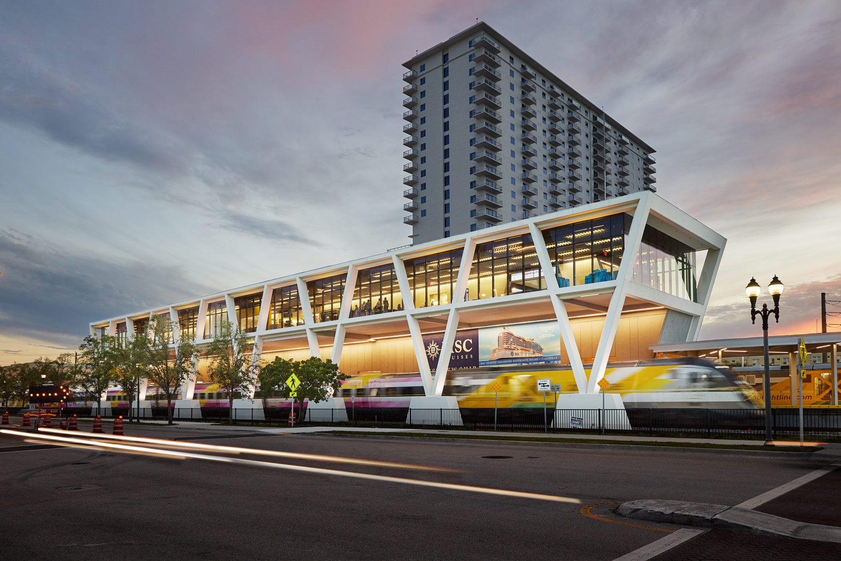 west palm beach brightline train station