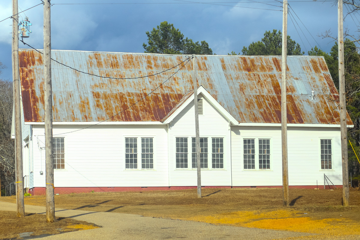 church with tin roof